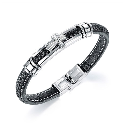 New Personalized Cross Bracelet Bracelet European and American Accessories Fashion Trendy Men's Retro Versatile Bracelet Gb1422