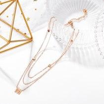 Ins Niche Design Titanium Steel Necklace Women's Net Red Temperament High Sense Multi-layer Letter Pendant Gb1726.