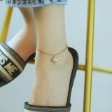 Girls Love Hearts Double Titanium Steel Anklets Women's Simple Wind Fashion Jewelry Gb114
