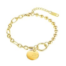 Korean Fashion Personality Luck Titanium Steel Ladies Bracelet Wholesale Gb1092