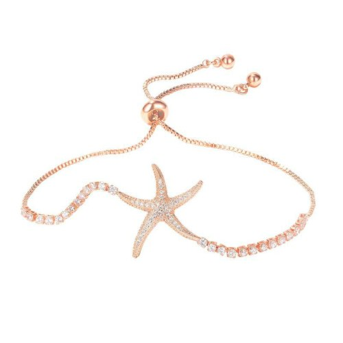 2020 New Starfish Ocean Series Creative Ladies Diamond Bracelet Accessories Wholesale Gb1002