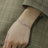 Korea Ins Wind Jewelry Wholesale Fashion Joker Notes Studded Adjustable Ladies Bracelet Girlfriends Accessories Gb1003