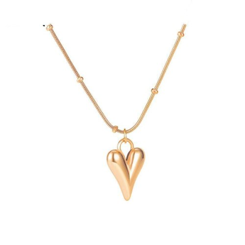 New Simple Classic Titanium Steel Love Ball Chain Necklace Collarbone Chain Pendant  Jewelry Gb1722.