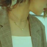 Korean Fashion Titanium Steel Love Pendant Multi-layer English Letter Necklace Collarbone Chain Neck Trim Female Gb1709.