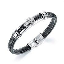 European and American New Personalized Cross Bracelet Fashion Trendy Men's Retro Versatile Bracelet Gb1422