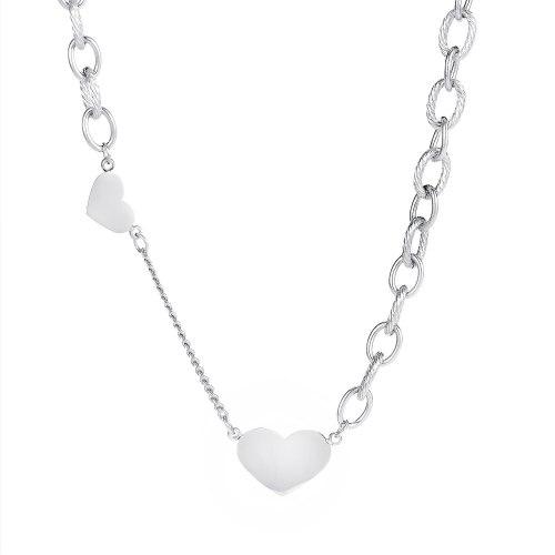 Korean Fashion Joker Titanium Steel Necklace Ladies Ins Temperament Love Clavicle Chain Pendant Gb1728