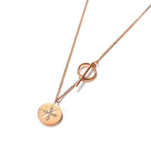 European and American Trend Disc Creative Roman Letter Titanium Clavicle Necklace To Send Girlfriends Gb1755