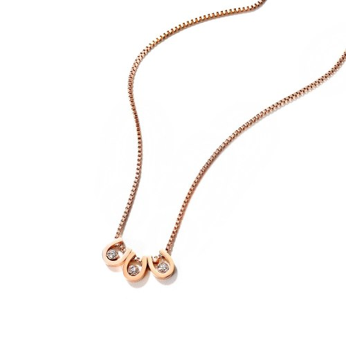 Ins Japan and South Korea Temperament Joker Titanium Steel Ladies Clavicle Chain Necklace Plated Rose Gold Necklace Gb1754