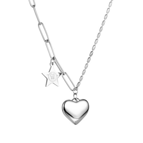 Ins Fashion Retro Love Necklace Female Heart-shaped Titanium Steel Chain Pendant Necklace Gb1774