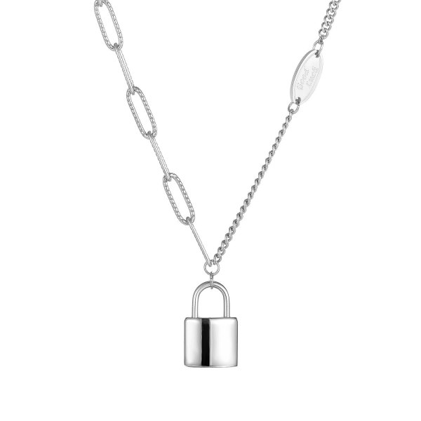 Han Version Retro Sweater Chain Necklace Simple Temperament 100 Personality Titanium Steel Necklace Women's Jewelry Gb1773