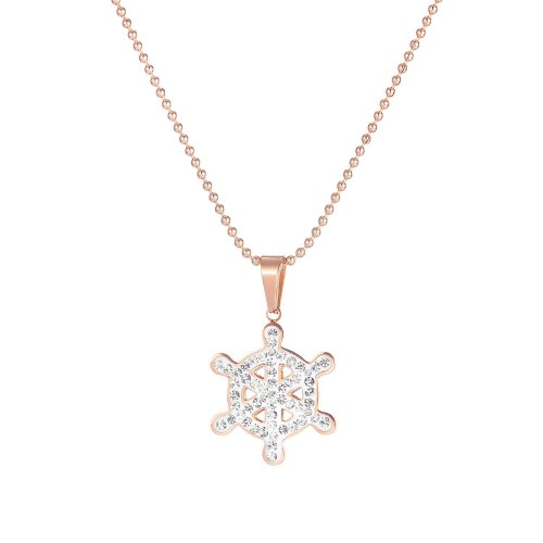 Japanese and Korean Temperament Joker Ins Literary Zircon Snowflake Clavicle Chain Necklace Female Jewelry Gb1763