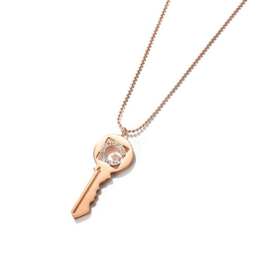 Ins Personalized Key Necklace Titanium Steel Rose Plated Gold Clavicle Chain Fashion Gift for Women Gb1753