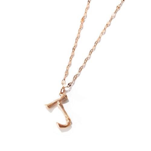 Korean Creative Letters J of Titanium Necklace Gb1767