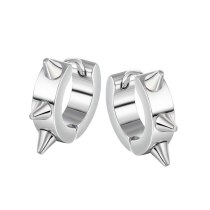 Men's Fashion Punk Titanium Steel Stud Earrings Wholesale Versatile Triangle Small Pointed Cone Earrings Accessories Gb635