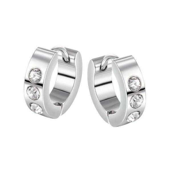 Japanese and Korean Hip-hop Punk Wind Stud Earrings Wholesale Classic Diamond Men Titanium Earrings Jewelry Gb636