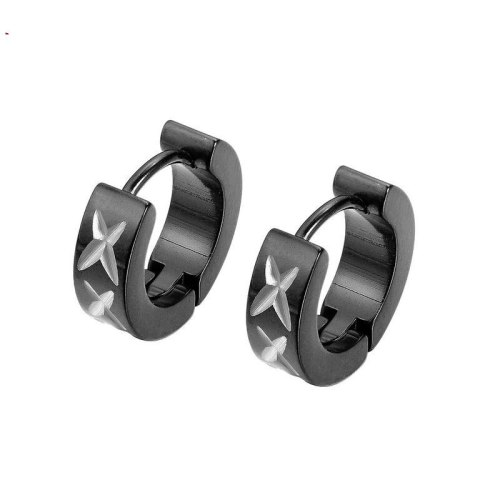 Japan and South Korea New Stud Earrings Fashion Pattern Titanium Steel Men's Personality Earrings Jewelry Wholesale Gb642