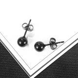 Stainless Steel Earrings Wholesale Classic Round Bead Titanium Steel Men's Earrings Street Hip Hop Earrings Accessories Gb634