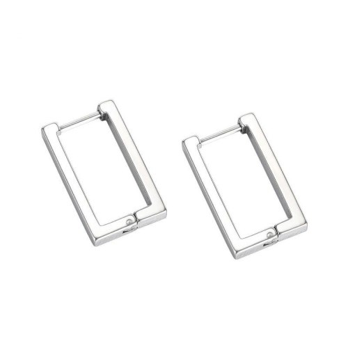 Korean Version of Simple Temperament Studs Geometry Titanium Steel Personality Men's Earrings Earrings Wholesale Gb633