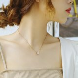 Japan and South Korea New Small Waist Hollow Collarbone Necklace Simple Fashion Lady Titanium Necklace Gb006