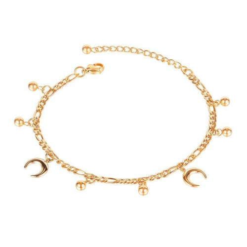 Gb122 of Ladies' Anklet Ornaments Plated with Rose Gold Titanium Steel Gb122