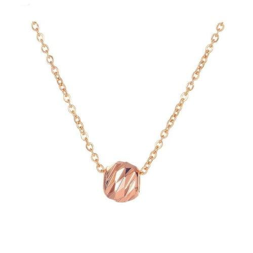 Japanese and Korean Rose Gold Necklace Feminine Collarbone Chain Exquisite Titanium Pendant Jewelry Wholesale Gb004