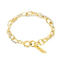 Japan and South Korea Creative Personality Double Layer Titanium Steel Ring Ladies Bracelet Girlfriends Accessories Gb1110