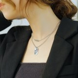New Japanese and Korean Fashion Love Smiling Face Square Brand Women's Double Titanium Steel Necklace Wholesale Gb1790