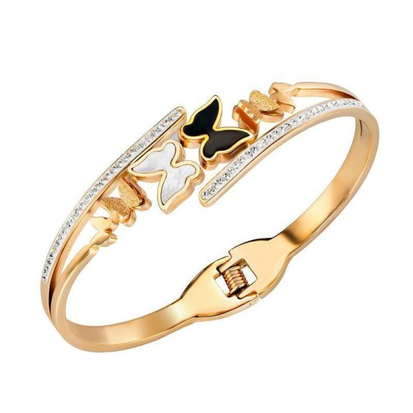 Exquisite and Creative Titanium Steel Butterfly Diamond Bracelet Girl Girl Accessories Bracelet Gb976