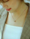 Ins Female Minimalist Pendant Collarbone Chain Temperament Titanium Steel Necklace Gb1715