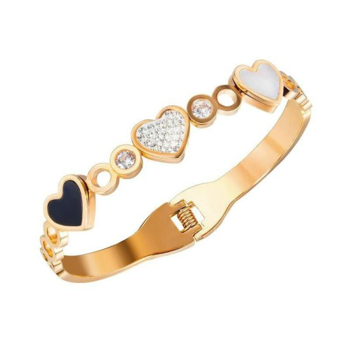 Japanese and Korean Bracelet Wholesale Classic Fashion Love Diamond Titanium Lady Bracelet Gb977
