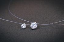 silver necklace MLA673e(4mm)