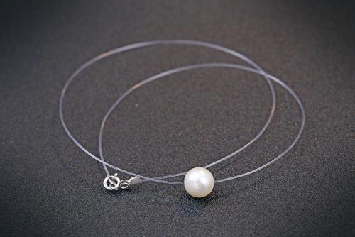 silver necklace MLA673z(6mm)