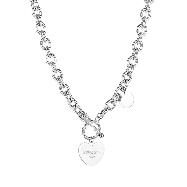 Korean Ins Trend Temperament Love Necklace Neck Chain Titanium Sweater Chain Gb1802