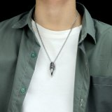 European Jewelry Domineering Eagle Claw Pendant Hipster Retro Personality Men's Titanium Steel Necklace Wholesale Gb1813