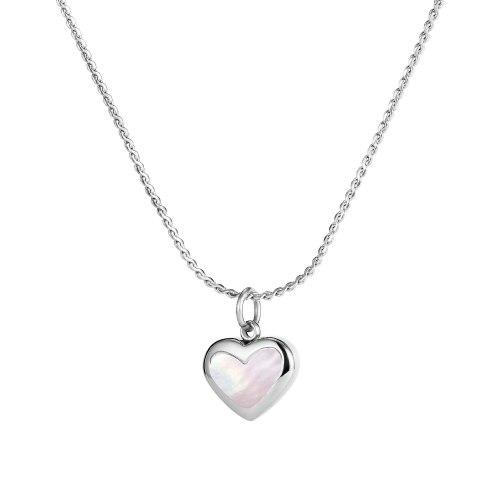 Korean Jewelry Wholesale Simple Temperament Ins Love Titanium Steel Necklace Female Clavicle Chain Accessories Gb1796