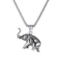 2020 Wholesale Europe and America Fashion Classic Elephant Pendant Men Titanium Necklace Accessories Gb1809