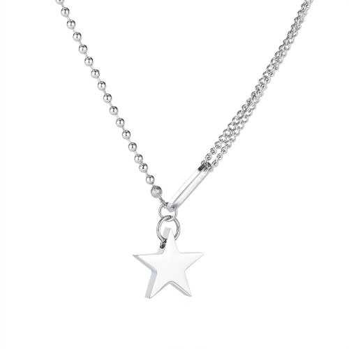 Korean Titanium Steel Simple Five Pointed Star Necklace Female Fashion Clavicle Chain Personality Ins Neck Chain GB1798