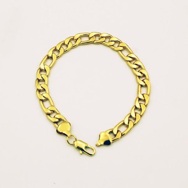 8mm*205mm European and American popular 18K gold chain men's bracelet Jewelry  1059
