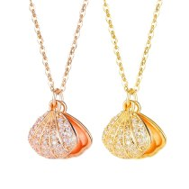 Ins Style Ocean Pearl Shell Necklace Light Luxury Pendant Clavicle Chain Accessories Gb003