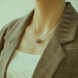 Ins Simple Three Ring Zircon Pendant Clavicle Chain Choker Light Luxury Small Titanium Steel Necklace Gb1671