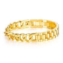 Korean Version Hip Hop Hiphop Street Titanium Steel Bracelet Fashion Personality Student Chao Male Bracelet Jewelry Gb1091