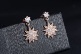 Korean star studded Diamond Earrings women's fashionable and versatile pop-up zircon 284