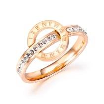 Korean Version of Simple Personality Titanium Roman Digital Ring Female Ins Sen Niche Joker Ring Gb698