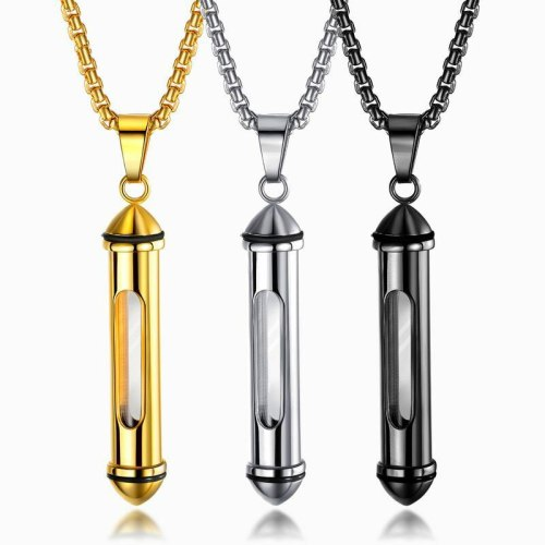 European Personality Can Open Titanium Perfume Bottle Pendant To Commemorate Pet Necklace Gb1573