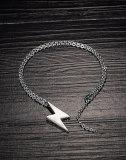 INS Tide Lightning Titanium Steel Necklace Simple Hiphop Street Men Pendant Gb1690