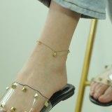Korean Version of Simple Titanium Steel Ball Ball Foot Chain Female Sen Girls with Diamond Ankle Chain Send Girlfriend Gb107