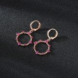 2020 New Inlaid Drop Earrings Plated with Real Rose Gold Stud Earrings Wholesale Qxwe1518