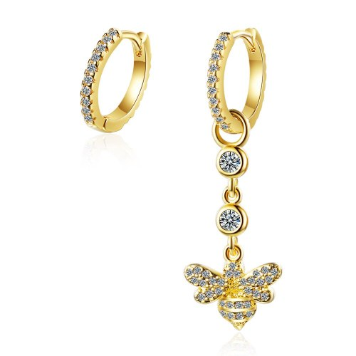 Asymmetric Earrings Female Korean Version of Small Fresh Diamond-encrusted Bee Cute Ear Buckle Sweet Animal Earrings XzEH575