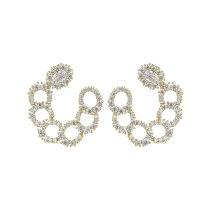 AAA Zircon Inlaid Stud Earrings S925 Sterling Silver Ear Needles Wholesale Dinner Party Atmosphere European Earrings Qxwe1541