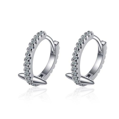 Rivet Earrings Women's Diamond Black Gold Earrings Dragon Bone Ins Wind Earrings Earrings XzEH564